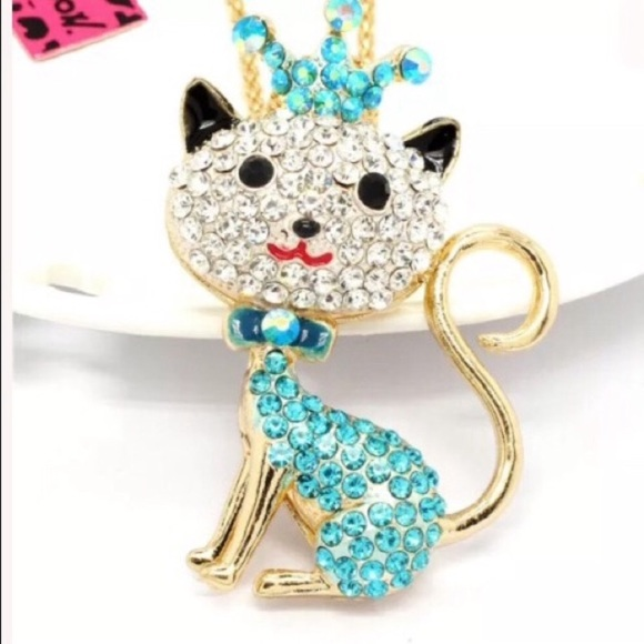 Betsey Johnson Jewelry - Betsey Johnson cat necklace